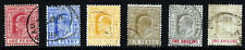 BAHAMAS Edward VII 1902-10 A Watermark Crown CA Group SG 62 to SG 68 VFU