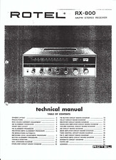 Rotel Servive manual für RX- 800 englisch Copy
