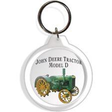 JOHN DEERE GARDEN FARM TRACTOR COLLECTABLE KEYCHAIN KEY FOB CHAIN RING