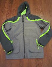 Euc Lands End boys winter jacket size 18 gray green Worn 1-2 x!