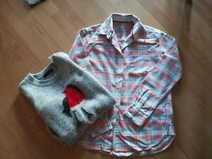 Unisex Jack Wills warm shirt and Christmas jumper size 8-10