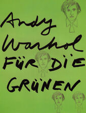 """ANDY WARHOL POSTER ART ( PRINT) """"FOR THE GREENS"""" POLITICAL POSTER  GERMAN PARTY"""