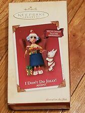2002 Hallmark Maxine I Don't Do Jolly Talking Christmas Keepsake Ornament Nib