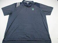Adidas Golf Mens Polo Shirt Blue Climacool Stretch Short Sleeve XL TR Logo