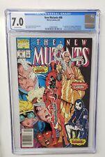 New Mutants #98  Deadpool 1st Appearance Marvel 1991 Newsstand CGC Graded 7.0