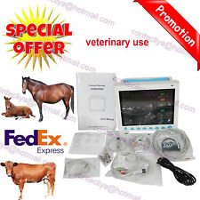 Veterinary Vital Signs ECG NIBP SPO2 RESP TEMP PR Patient Monitor USA Promoted