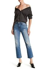 New Levi's Fray Kick Flare Jean Palo Verde Wash cropped Denim Jeans size 27