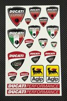 DUCATI Corse motorcycle decals set 6x10 in. sheet 20 stickers Monster Laminated