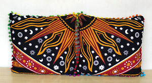 """New Mandala 16"""" Pillow Cover Sun Moon Print 2 Pcs Sofa Cushion Covers Indian"""