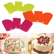 3PCS/Set Dough Scraper Cake Decorating Baking Tools Smooth Jagged Edge Spatulas