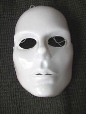 Mardi Gras Mask Adult Woman's Full Face White Blank Artist  Costume Plastic