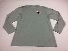 NEW Nike Houston Texans - Gray Dri-Fit Long Sleeve Shirt (2XL)