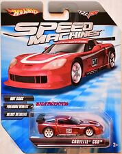 HOT WHEELS SPEED MACHINES CORVETTE C6R RED W+