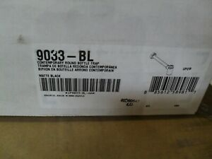 "Kohler K-9033-BL Contemporary 1-1/4"" round bottle trap Matte Black"