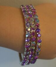 PACK OF 3 GIRLS / LADIES BRACLET / BANGLE WITH COLOURED CRYSTALS BRAND NEW
