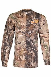Bone Collector BC Realtree AP Camo Mens Long Sleeve T-Shirt Orange Logo L XL 2XL