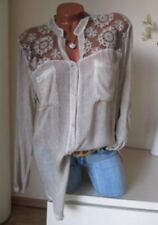 US Women's Lace Floral Tunic Long Sleeve Loose Blouse Casual Shirt Tops T-Shirt