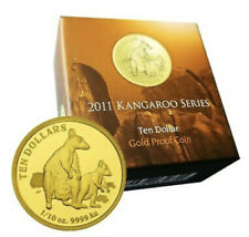 💰2011 Kangaroo Series - Allied Rock Wallaby Ten Dollar 1/10oz Gold Proof Coin