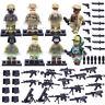8pcs/lot Militär Marines Soldaten Figuren mit Armee Waffen Bausteine Blocks Toys