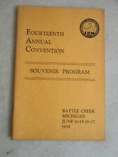 1939 14th Annual The International Brotherhood Of Magicians Convention Program