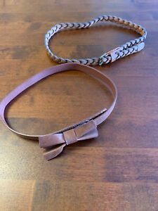 "Baby Belt Tan 27"" 24"" Bow Plait 12-18 Brown"