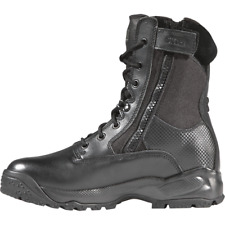 """5.11 Tactical 12001 Mens Black ATAC 8"""" Side Zip BOOTS Military Police Size 10"""