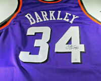 CHARLES BARKLEY / NBA HALL OF FAME / AUTOGRAPHED PHOENIX SUNS CUSTOM JERSEY COA