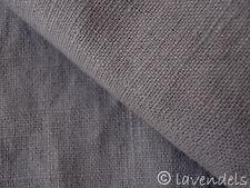 0,5 m Tessuto Lino enzima-lavato grigio torrone taupe bella Qualità 230 g/m2