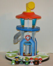 Paw Patrol Lookout Tower Wooden Play Set with Plastic Figures