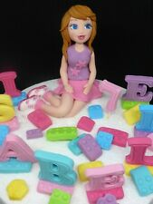 LEGO FRIENDS Edible Letters Name Age Handmade Birthday Cake Toppers Combined P&P