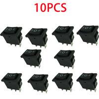10 x AC 125V 10A 250V 6A Mini Boat Rocker Switch SPST SPDT ON-OFF-ON KC HCD