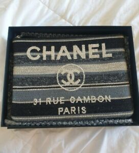 Chanel Deauville Pouch Clutch Purse Authentic 100%