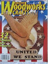 Creative Woodworks Crafts Magazine April 2002 Carving Scrolling Woodcraft Paint
