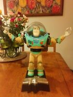 Toy Story Buzz Lightyear Talking Room Guard Action Figure on original Stand