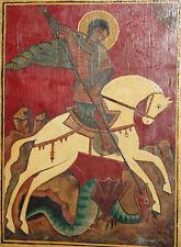 New listing Orthodox Tempera/Wood Hand Painted Icon Saint George