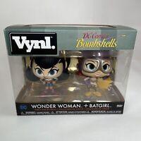 Funko Vynl DC Comics Bombshells Wonder Woman & Batgirl Vinyl Figures Twin Pack
