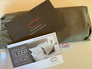 Comphy Pillowcases Grey Standard Microfiber Set of 2 Brand NEW Free Shipping