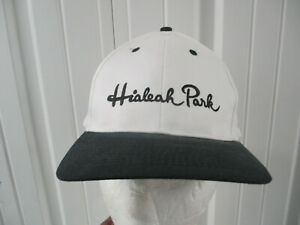 VINTAGE HIALEAH PARK SCRIPT SNAPBACK CAP HAT HORSE RACING HOME OF THE FLAMINGO