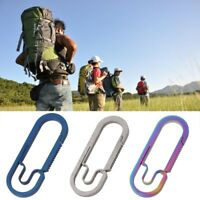 EDC Outdoor Camping Carabiner Titanium Alloy Keychain Hanging Buckle Snap Hooks