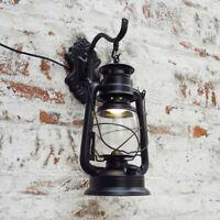 Retro Antique Vintage Rustic Lantern Lamp Wall Sconce Light Fixture Outdoor US