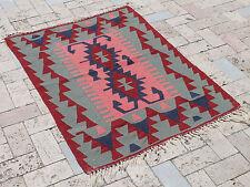 Turkish Kilim Rug 33''x45'&# 039; Hand Woven West Anatolian Kilim 86x116cm