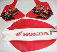 Honda XR 250R XR250 R XR 250 KIT Tank decals & Seat Cover GRIPPER , graphics