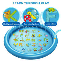 170cm Inflatable Sprinkle Splash PVC Mat Baby Kid Garden Water Spray Play Pools