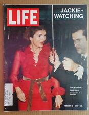LIFE magazine Feb 12 1971 JACKIE KENNEDY ONASSIS-Beatrix Potter-POW's-Airport