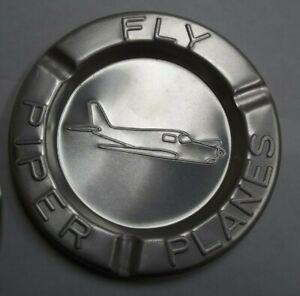 Vintage  Piper Cub Planes Airplane Advertising T-6 Aircraft Aluminum Ashtray
