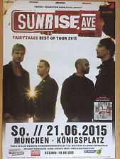 SUNRISE AVENUE  2015  MÜNCHEN - orig. Concert Poster - Konzert Plakat  A1  NEU