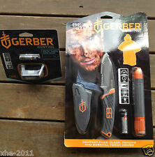 Gerber Bear Grylls Compact Fixed Blade, Poncho, Survival Torch & Myth Headlamp