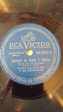 JAZZ 78 rpm RECORD RCA Victor DUKE ELLINGTON Orquesta FANTASIA EN NEGRO Y CANELA