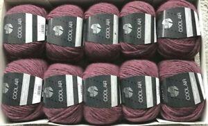 (100g/7€) SONDERPOSTEN Cool Air Lana Grossa 10x50g Fb.7 burgund Merino-Alpaka