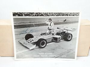 1973 Indy 500 Peter Revson Signed Autograph Photo Indianapolis Motor Speedway